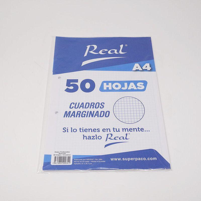 Papel-Marginado-Cuadros-A4-50H