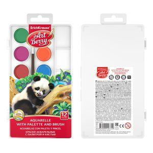 Acuarela 12 Colores caja plástica