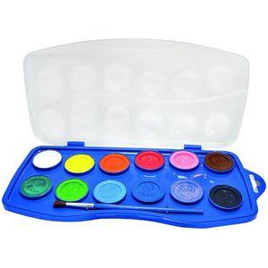 Acuarela 12 Colores Master con pincel