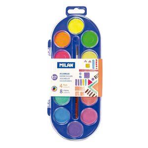 Acuarela 12 Colores con Pincel