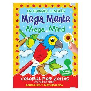 Libro de activiaddes Mega Mente español e inglés