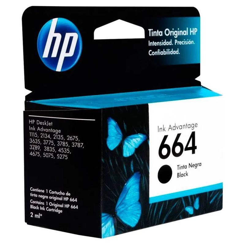 Cartucho---HP---664-Negro