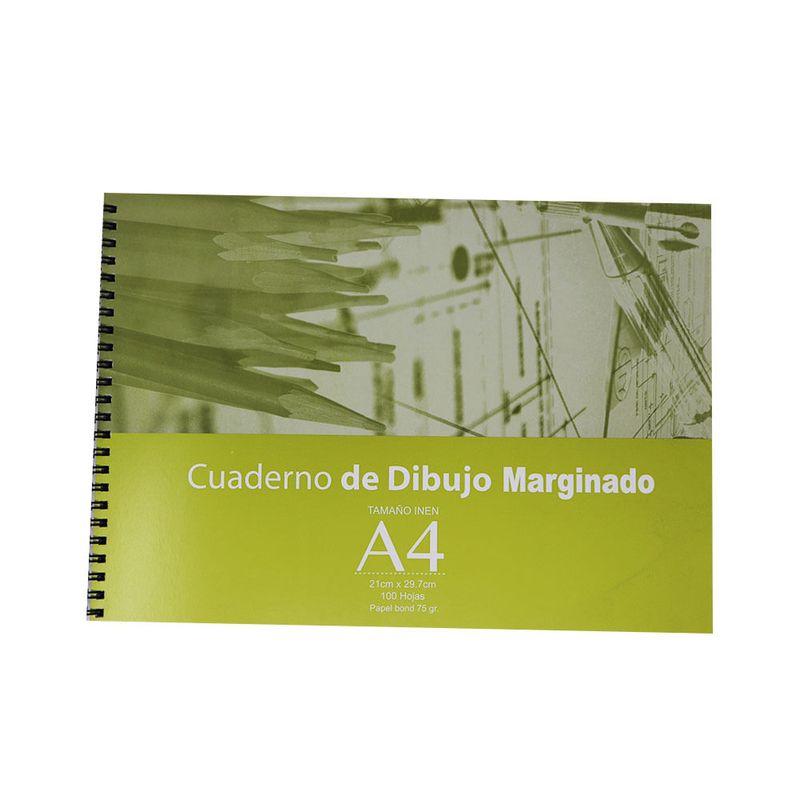 Cuaderno-espiral-A4-100hjs-con-margen-de-dibujo-75gr