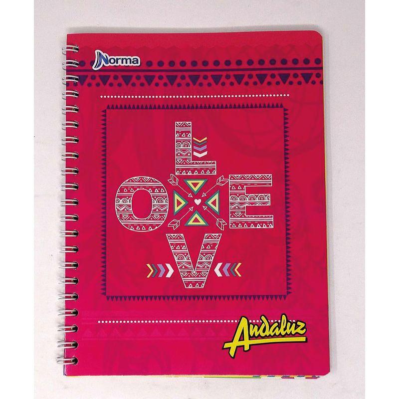 Cuaderno-espiral-A4-100hjs-2-lineas-economico-Andaluz