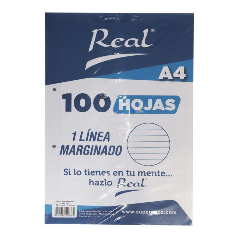 Papel-Marginado-1-Linea-A4-100H