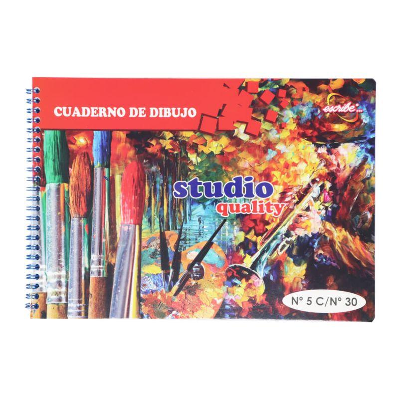 Cuaderno-espiral-A4--5-30hjs-sin-margen-de-dibujo-economico