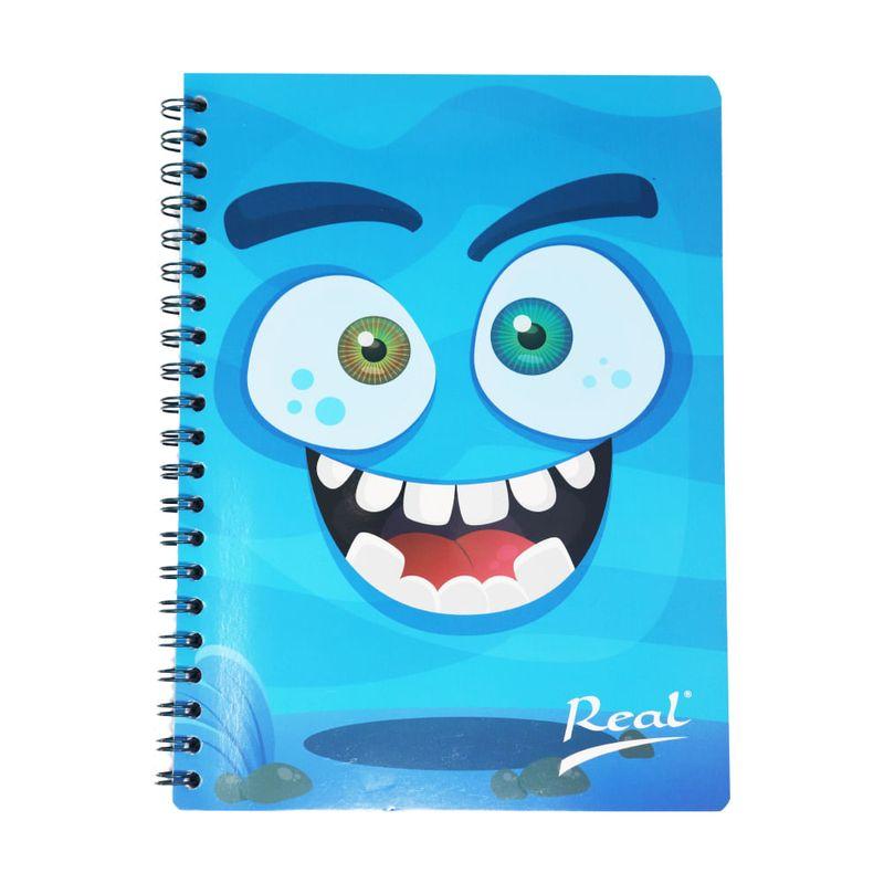 Cuaderno-espiral-A4-100hjs-cuadros-economico-Monstruo-azul