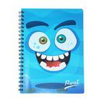Cuaderno-espiral-A5-100hjs-cuadros-economico-Monstruo-Azul