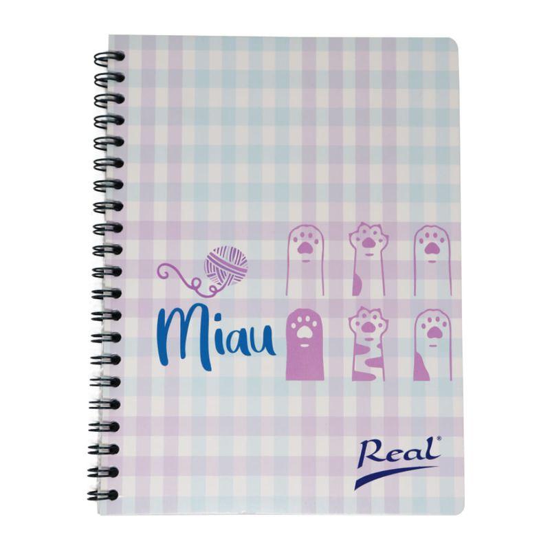 Cuaderno-espiral-A4-100hjs-cuadros-economico-Miau