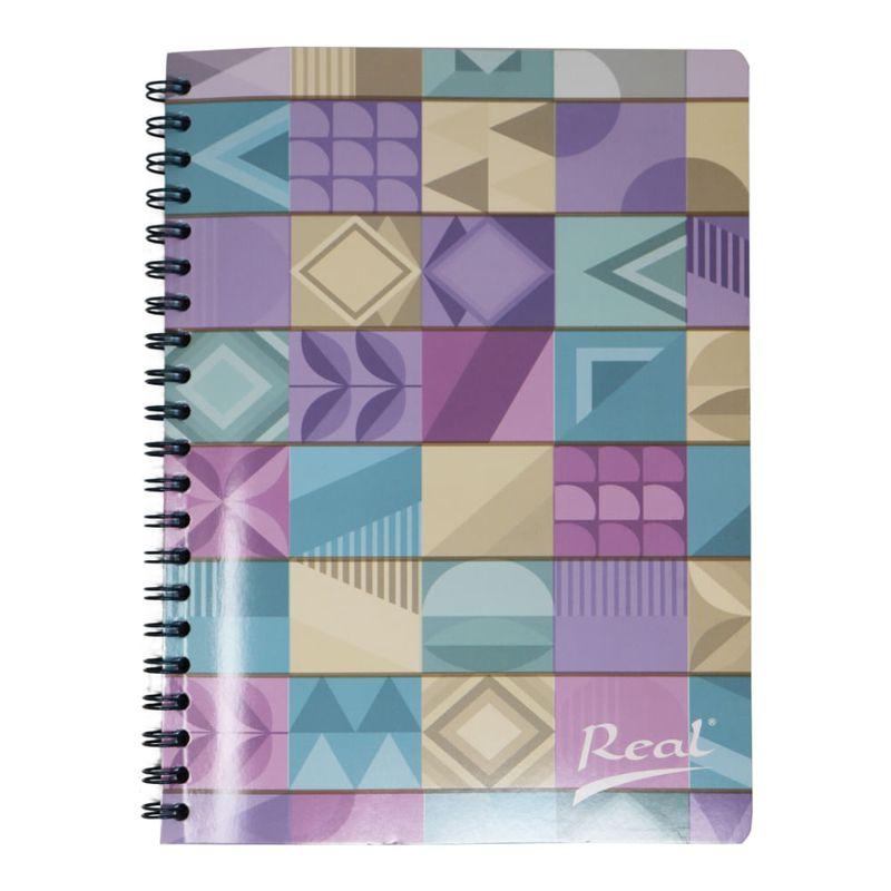 Cuaderno-espiral-A4-100hjs-cuadros-economico-Mosaico-pastel