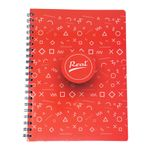 Cuaderno-espiral-A4-100hjs-cuadros-economico-Popsocket-rojo