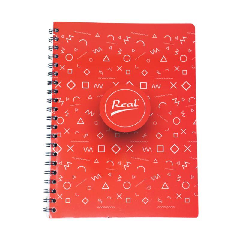 Cuaderno-espiral-A4-60hjs-cuadros-economico-Popsocket-rojo