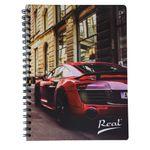 Cuaderno-espiral-A4-100hjs-cuadros-economico-Carro-Rojo