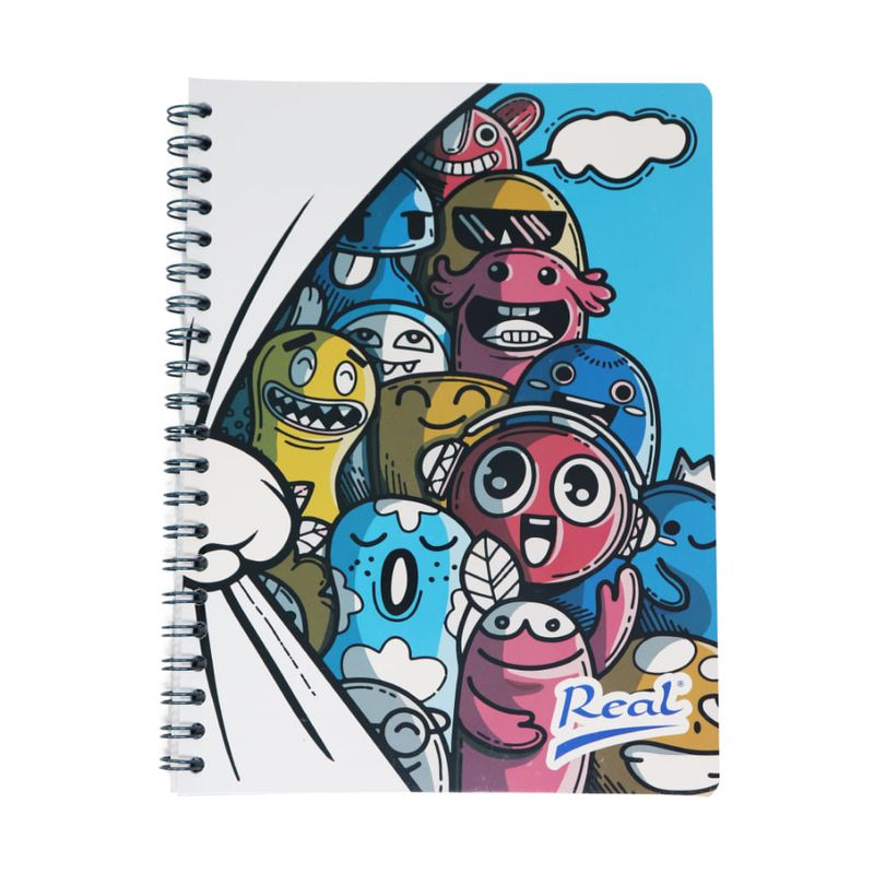Cuaderno-espiral-A5-100hjs-cuadros-economico-Muñecos