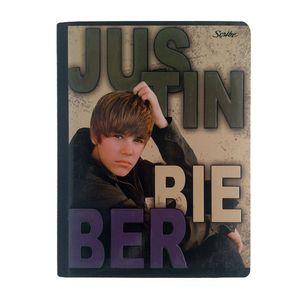 Cuaderno cosido 100hjs 4 líneas Justin Bieber