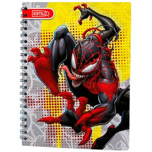 Cuaderno espiral A4 100hjs 1 línea Spiderman