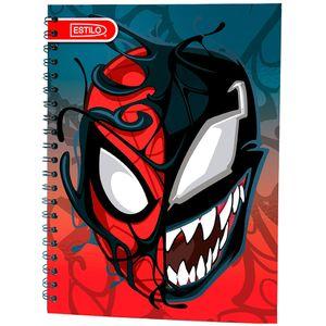 Cuaderno espiral A4 100hjs cuadros Spiderman