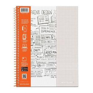 Cuaderno espiral A4 100hjs cuadros Whitelines Universitario