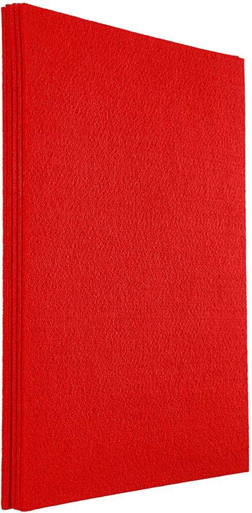 Fieltro-Duro-A4-Rojo