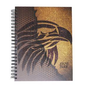 Cuaderno espiral A4 200hjs cuadros pasta dura Hand Book