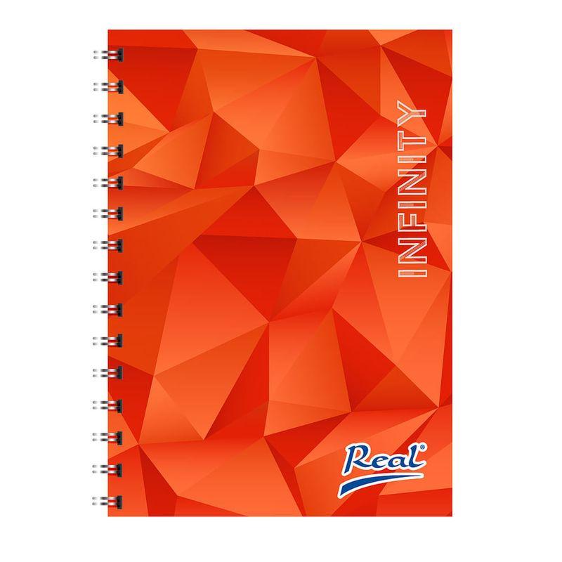 Cuaderno-espiral-A4-100hjs-cuadros-pasta-dura-Infinity-naranja
