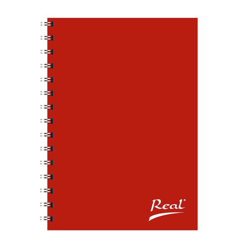 Cuaderno-espiral-A4-100hjs-1-linea-pasta-dura-Puntos-rojos