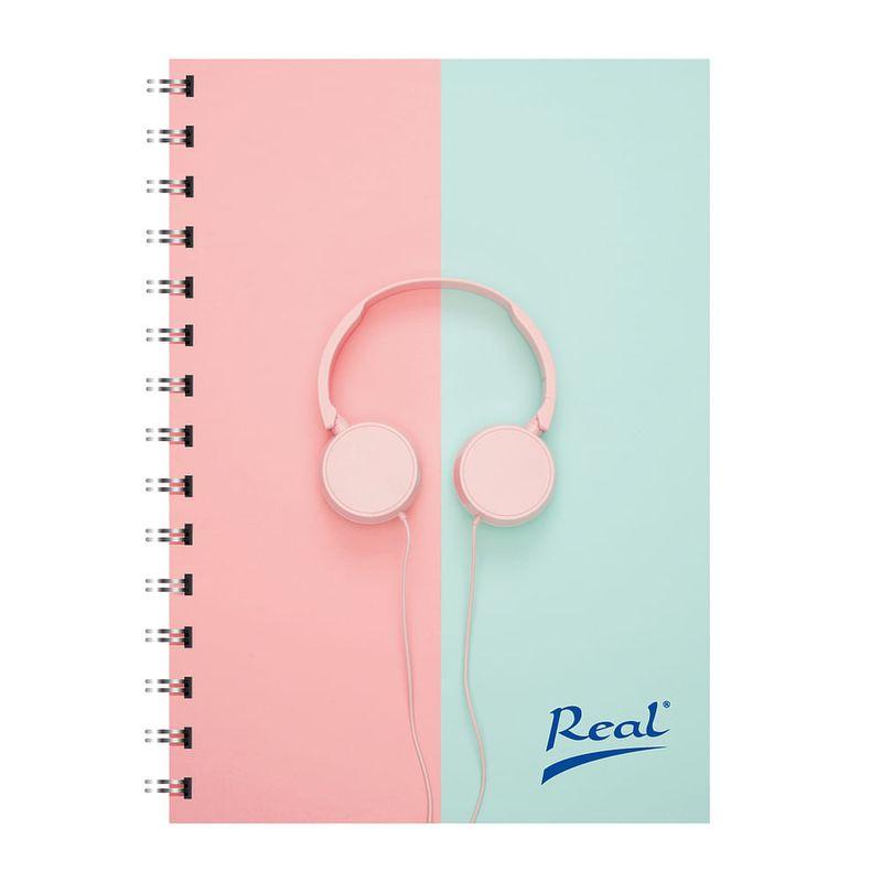 Cuaderno-espiral-A4-100hjs-cuadros-pasta-dura-Audifonos