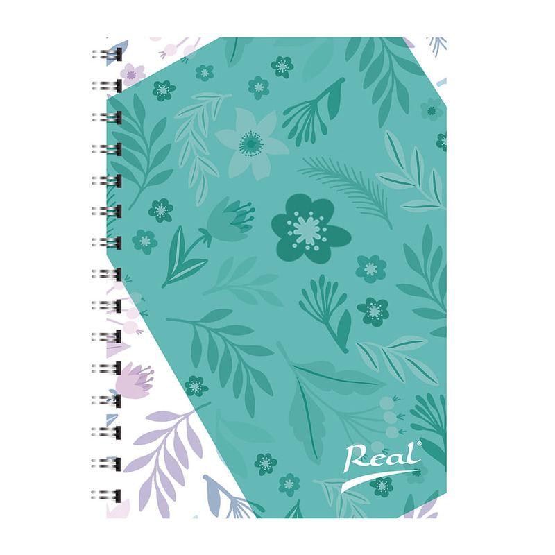 Cuaderno-espiral-A4-100hjs-cuadros-pasta-dura-Flor
