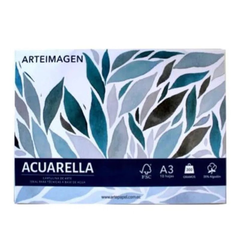 Block-Cartulina-Acuarelable-A3
