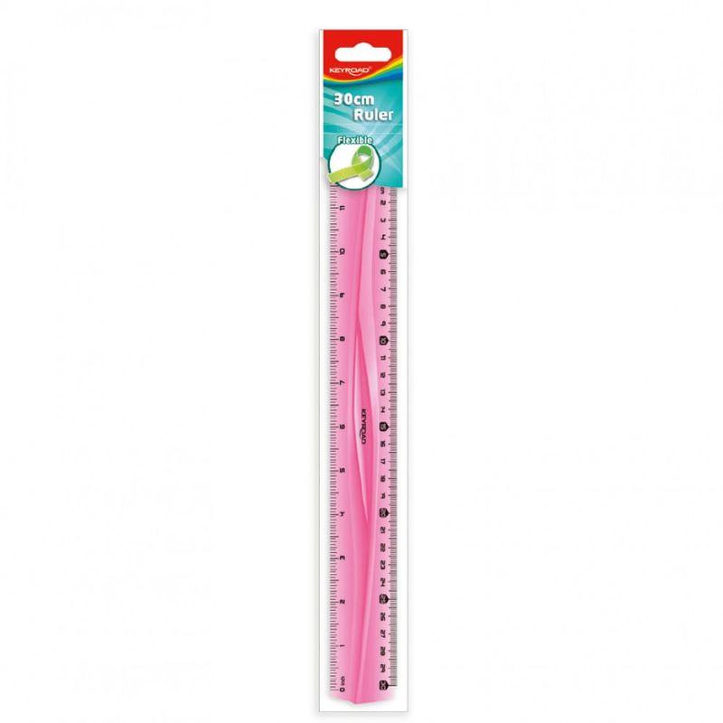 Regla-plastica-30cm-flexible-rosado