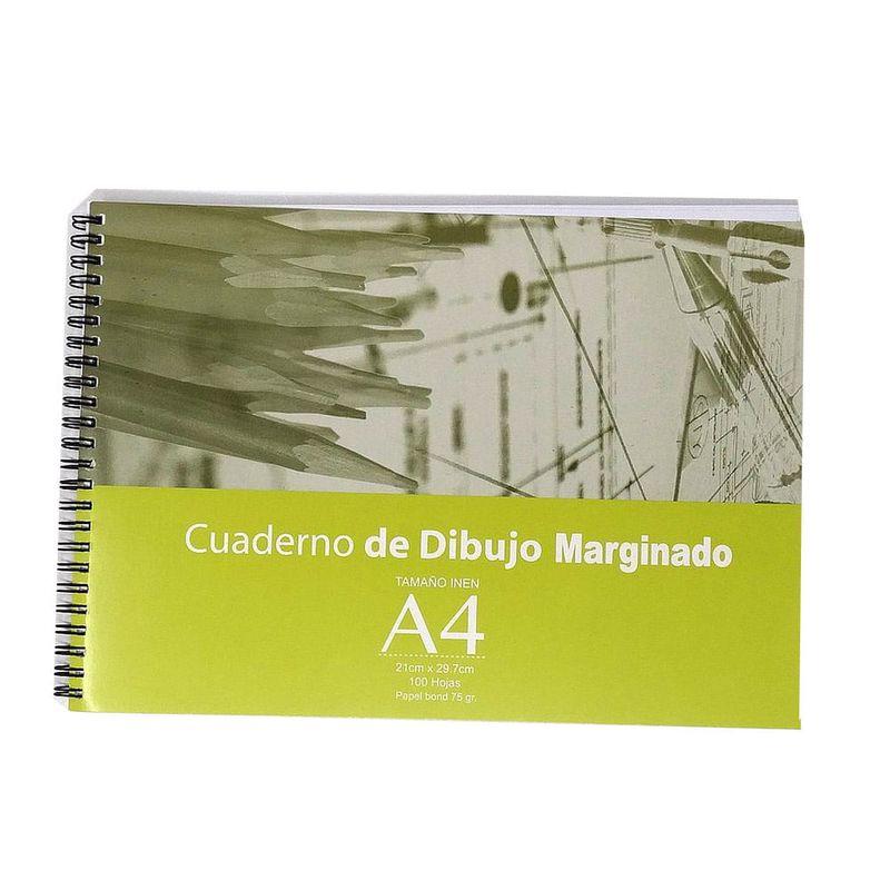 Cuaderno-espiral-A4-50hjs-con-margen-de-dibujo-75gr