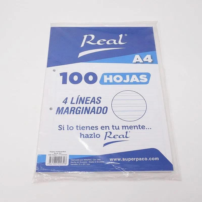 Hojas-4Lineas-A4-pqt.-100