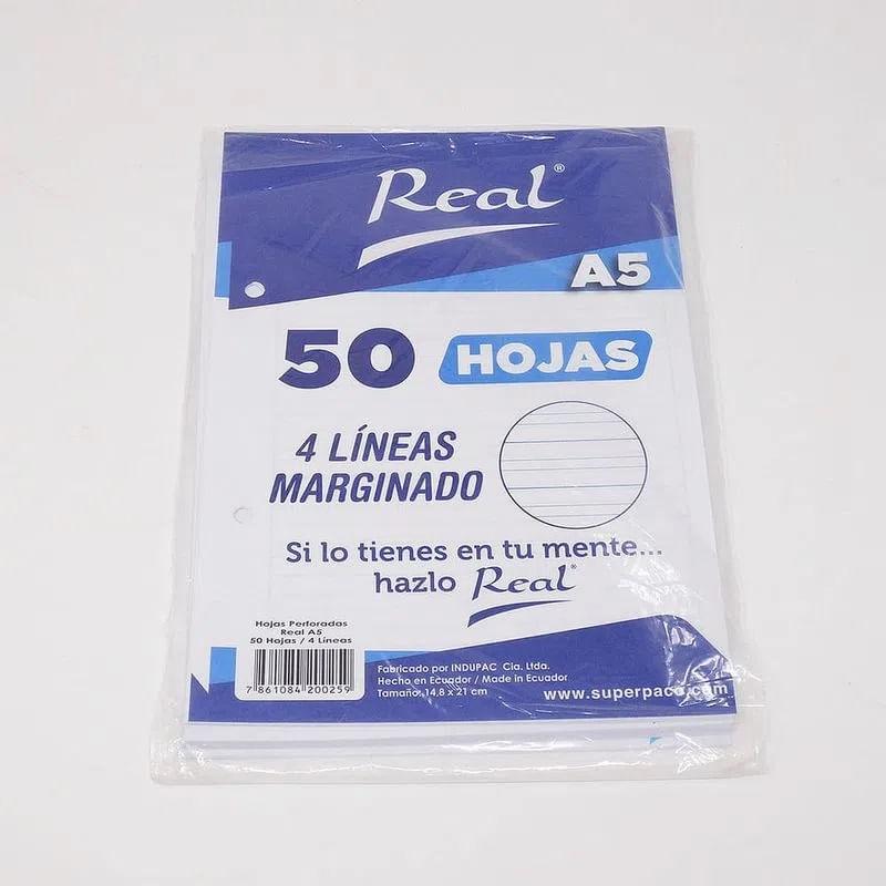 Papel-Marginado-4-Lineas-A4-50H