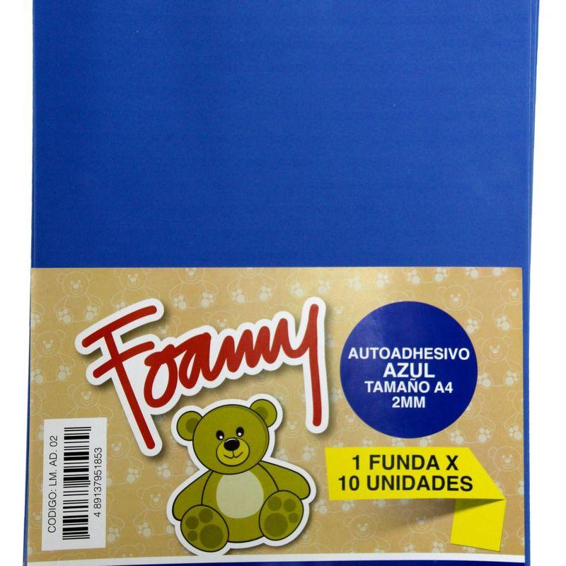 Foamy-Liso-Adhesivo-A4-Azul