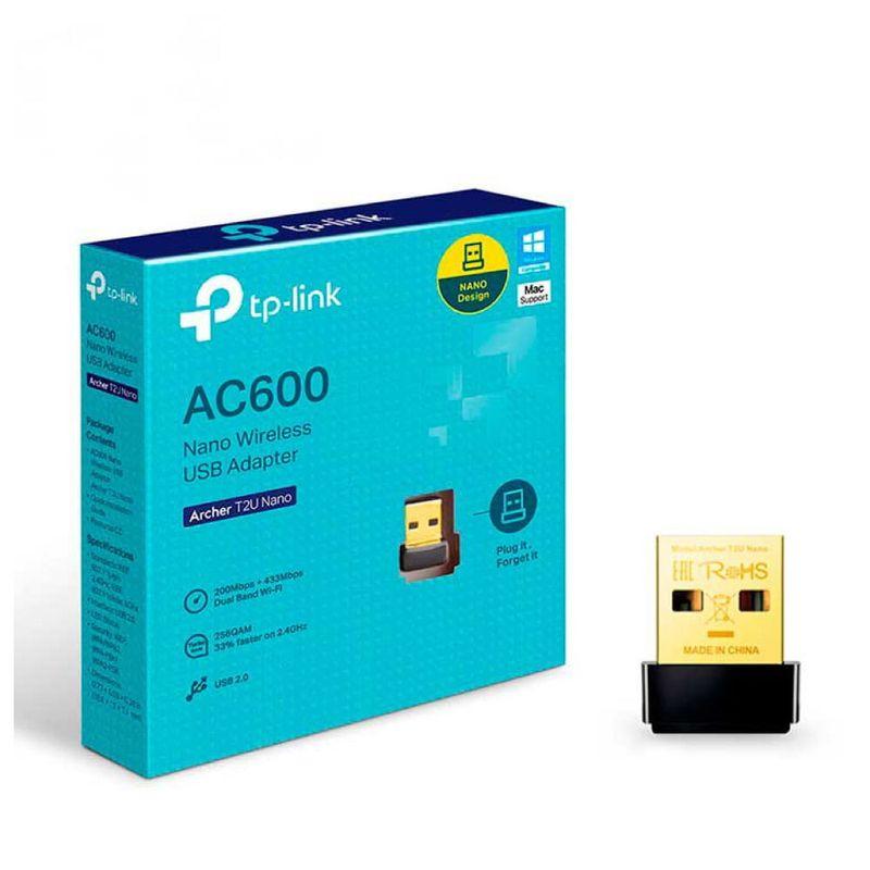 Adaptador-Doble-Banda-USB-A-Wireless---TP-LINK---Archer-T2U