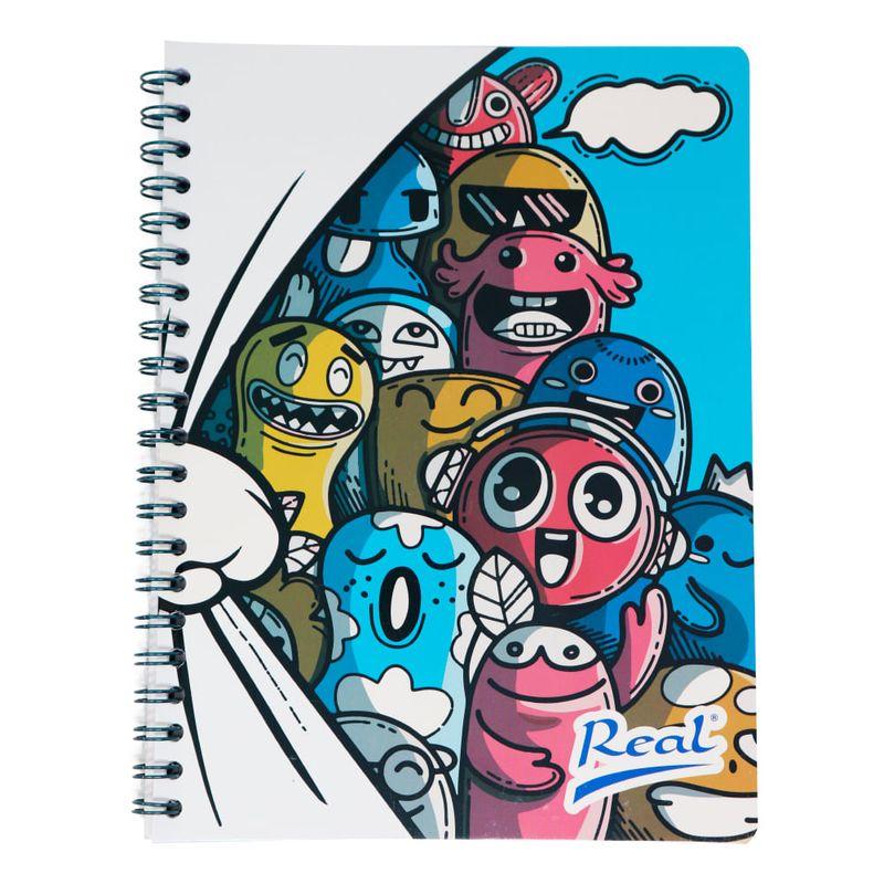 Cuaderno-espiral-A4-100hjs-1-linea-economico-Muñecos