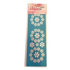 Stencil 30x10cm floral 1139